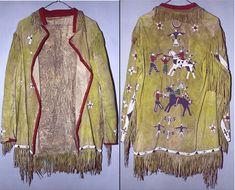 Beaded Jacket, North Dakota, Sioux, Beadwork, Glass Beads, Kimono Top, History, Coat, Floral