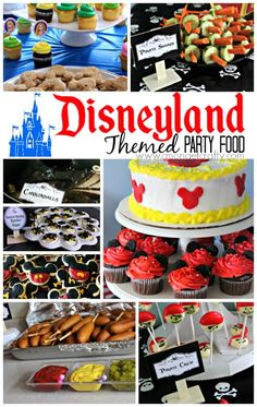 Disneyland Themed Party Food Ideas - Grab some free printable food labels and steal these awesome Magic Kingdom party food ideas! Throw a party inspired by the Happiest Place on Earth with these Disneyland Food Ideas! Disney World Birthday, Disneyland Birthday, Disneyland Food, Disney Party Foods, Disney Themed Food, Disney Food, Disney Recipes, Adult Disney Party, Disney Parties