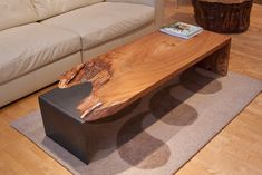 Urban Hardwoods News - Urban Hardwoods Live Edge Furniture, Hardwood Furniture, Unique Furniture, Diy Coffee Table, Coffee Table Design, Wood Table Design, Driftwood Table, Woodworking Inspiration, Concrete Table