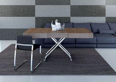 Tavolo trasformabile ~ Tavolino da salotto bianco lucido trasformabile in tavolo l. 220