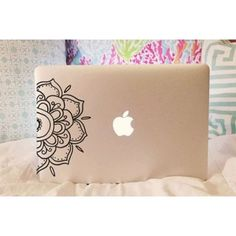 Half Mandala Decal - Mandala Decal - Laptop Decal - Car Decal - iPad Decal - Vinyl Decal - Girly Decal - Macbook Decal - Laptop Sticker USD) by moonandstarco Laptop Wallpaper Desktop Wallpapers, Wallpapers Vintage, Computer Backgrounds, Wallpaper Quotes, Macbook Laptop, Laptop Decal, Mac Laptop, Laptop Case, Coque Mac