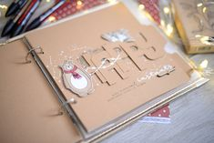 Mini Albums, December Daily, Tampons, Scrapbook Albums, Christmas Crafts, Rings, Cards, Journaling, Layouts