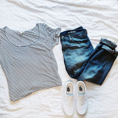 What I need: Ankle or crop denim, white Keds or Toms