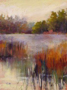 Items op Etsy die op Wetlands Landscape marsh pond with egrets Original Pastel Painting Karen Margulis lijken