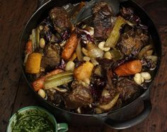 Wild Boar Stew.  No boar at Adahi, but we do get some bovine visiters....