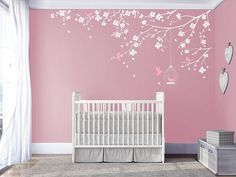 Branch wall Decal Baby Nursery Decals Girls by DecalsArtStudio #NurseryStickers