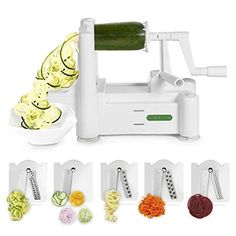 Spiralizer 5-Blade Vegetable Slicer, Strongest-and-Heavie...