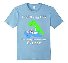 T-Rex Hates CPR Funny Dinosaur T Rex Extinct Tee Shirt Buy it here: https://www.amazon.com/product/dp/B01C7M3JGA #funny #dinosaur #tshirt #kids