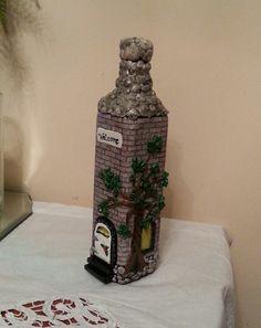 house  bottle by ninasoriginals on Etsy