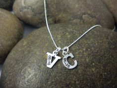 Custom Hand Stamped Sterling Silver Letter by SayWhatCreations, $30.00- LOVE this for moms!!!
