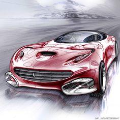 Ferrari ideation of Vivien Kleczek