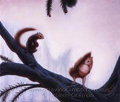 squirrels of the tree.  Octavio Ocampo artist