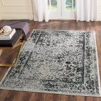 Better Homes and Gardens Gray Distressed Area Rug Available In Multiple Sizes
