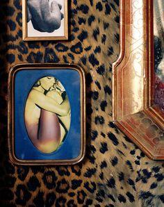 Ein Detail aus dem Haus von Carlo Mollino, fotografiert in Turin, 2004