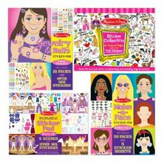 Melissa & Doug Girls Sticker Bundle, 4-Pack by Melissa & Doug. $19.99. Set of 4 oversize sticker activity books. Includes: Make-A-Face Fashion Faces, Dress-Up Reusable Sticker Pad, Jewelry & Nails Glitter Collection Sticker Pad and Sticker Collection. Dress-Up Sticker Pad features reusable, cling-style stickers to place on the five colorful backgrounds, then rearrange again and again. Make-A-Face Fashion Faces and Jewelry and Nails Glitter Collection feature 35 total...