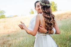 The perfect style for a wilderness wedding. These soft, romantic waves were inspired by the babies breath crown! See more here: http://www.kayleyvandenberg.com