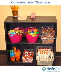 This is a guide to organizing your classroom.   A well organized classroom not only looks tidy and professional but also teaches your students basic organization skills.