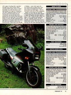 BMW vs Moto Guzzi 1991 Australian magazine 4 page comparison Dirt Track Racing, F1 Racing, Drag Racing, Moto Guzzi Motorcycles, Honda Cb750, Old Magazines, Lamborghini Gallardo, Maserati, Motorbikes