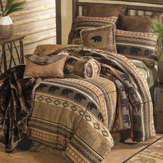 Saranac Lodge Bear and Moose Bedding