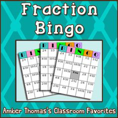 This variation of Bingo can be used for adding fractions, equivalent fractions, or simply identifying fractions.  If your class enjoys Bingo, you can keep coming back to this one!  Currently $1.00