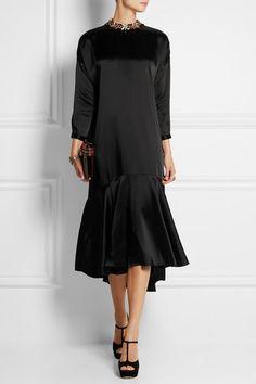 Biyan | Linda embellished satin dress | NET-A-PORTER.COM