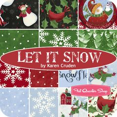 Let It Snow Yardage Karen Cruden for Windham Fabrics - Fat Quarter Shop