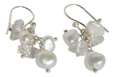 White Cultured Freshwater Pearl and Crystal Earrings in Sterling Silver Blue Breeze Jewelry http://www.amazon.com/dp/B008AA1DOY/ref=cm_sw_r_pi_dp_J4cVtb04044R2Z37