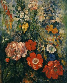 Bouquet of Flowers, Paul Cezanne. French Post-Impressionist Painter (1839 - 1906)