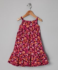 Take a look at this Loganberry Plumeria Maxi Dress - Toddler & Girls by Tea on #zulily today!