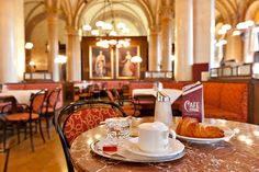 Contributor Doug O'Neill offers a guide to coffee house culture in Vienna so you'll know how to order, where to go and how to avoid embarrassing gaffes. Vienna Restaurant, Vienna Cafe, Cafe Central, Caramel Biscuits, Starting A Coffee Shop, Coffee Shop Business, Best Coffee Shop, Coffee Shops, Coffee Cafe