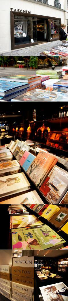 Em Paris também tem uma loja própria da nossa amada e querida editora, Taschen! Ela fica em Saint Germain, em um lugar lindinho, bem parisiense mesmo! Para quem ama os livros maravilhosos de arte, fotografia, arquitetura e design da marca, precisa conhecer a loja! É um lugar fofo, aconchegante e lindo! Pra olhar ou comprar, … Continue reading Para conhecer – Taschen Paris