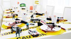 CSI Theme Party #CSI #themeparty #tablescape www.bitememore.com