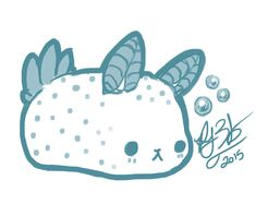 Last night I doodled a sea bunny simply because they are the cutest sea slug I have ever seen in my life! The response so far on instagram/tumblr has been fantastic and I look forward to developing...