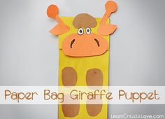 { Paper Bag Giraffe Craft } from LearnCreateLove.com