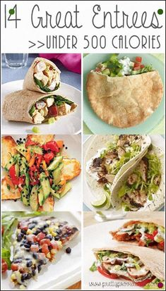 Delicious Meals Under 500 Calories! 14 AMAZING entrees under 500 calories! Every one of these that I have tried has been absolutely AMAZING entrees under 500 calories! Every one of these that I have tried has been absolutely delicious! 600 Calorie Meals, Meals Under 500 Calories, 150 Calorie Snacks, No Calorie Foods, Low Calories, Healthy Cooking, Healthy Snacks, Healthy Eating, Diet Recipes