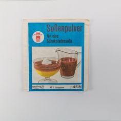 """DDR Museum - Museum: Objektdatenbank - """"Soßenpulver"""" Copyright: DDR Museum, Berlin. Eine kommerzielle Nutzung des Bildes ist nicht erlaubt, but feel free to repin it!"""