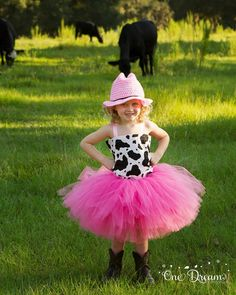 Diva Cowgirl Tutu Costume with Crochet Hat