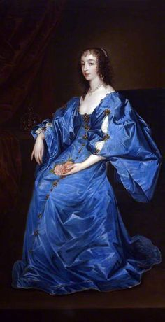 Henrietta Maria of France, Queen of England (1609–1669) by Anthony van Dyck, 17th century