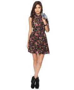 Rose Shirt Dress