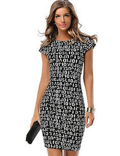 3f3c07168712   5.04  Women s Plus Size Daily Street chic Bodycon Dress - Geometric Print  Summer Black Red XL XXL XXXL