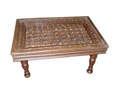 "Antique Carved Rossettes Floral Coffee Table Teak Wood India 36 by Mogul Interior. Save 37 Off!. $950.00. Intricate carving and a masterpiece.. The antique look will compliment any contemporary living area.. Antique Indian doors coffee table hand carved teak wood beautiful patina and intricate detailing.. Exterior Dimensions : 36""x24""x18"". Beautifully hand floral carved with four leg teak wooden coffee table from India.. Old doors coffee table chest from Havelis are reused to create..."