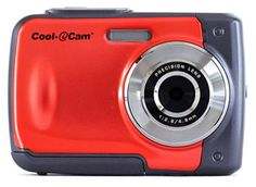 awesome ION Cool-iCam Waterproof Digital Camera Screen RED - The Perfect Camera for Kids! Camo Photography, Umbrella Photography, Photography Equipment, Sony Camera Lenses, Cameras Nikon, Perfect Camera, Best Camera, Best Cheap Digital Camera, Digital Cameras