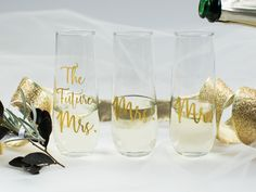 Personalized champagne glass/custom champagne glass/custom wine glass/personalized champagne glass/bride champagne glass/bachelorette glass by CatePaperCo on Etsy https://www.etsy.com/listing/505469517/personalized-champagne-glasscustom