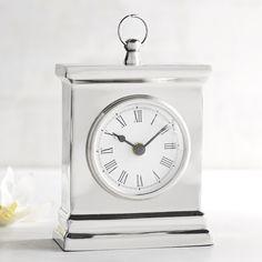 Pier 1 Imports Mini Clock ($16) ❤ liked on Polyvore featuring home, home decor, clocks, silver, mini desk clock, miniature clock, mini clocks and pier 1 imports