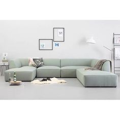 whkmp's own hoekbank rechts Town VII , Mint Living Room Modern, Living Room Sofa, Living Room Furniture, Küchen Design, Sofa Design, Sofa Furniture, Furniture Design, Fashion Room, Home Interior Design