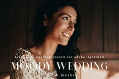 Moody Wedding Kit for Lightroom by LOU&MARKS on @creativemarket