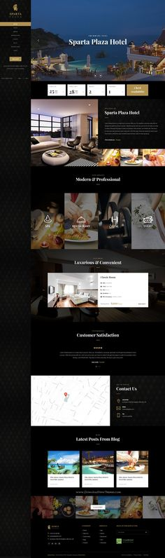 Sparta is clean and modern design PSD #template for stunning #Hotel and #resort website with 4 luxurious homepage layouts and 90+ layered PSD files download now... Luxury Website, Hotel Website Design, Hotel Sites, Homepage Design, Ui Web, Website Design Inspiration, Website Layout, Layout Design, Print Design