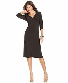 Elementz Three-Quarter-Sleeve B-Slim Dress - Dresses - Women - Macy's