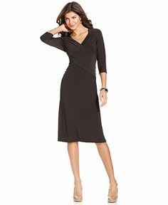 Elementz Three-Quarter-Sleeve B-Slim Dress - Dresses - Women - Macy's