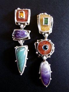 Earrings - Multi Stone 3 Drop, Carlyn Galerie